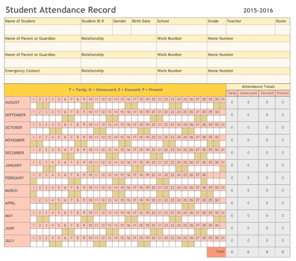download attendance sheet Oylekalakaarico