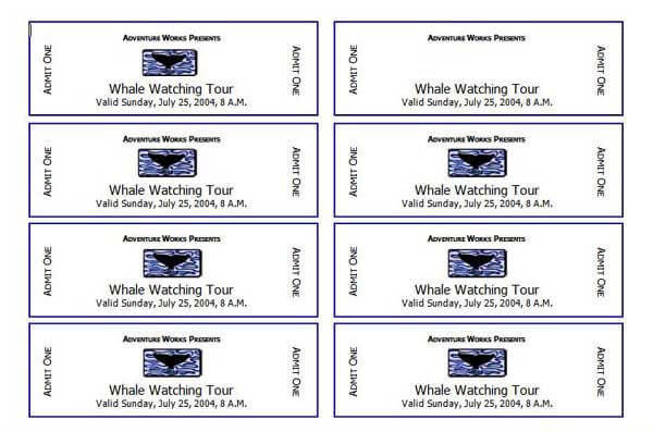 2 Event Ticket Templates – Free Event Ticket Template Microsoft Word