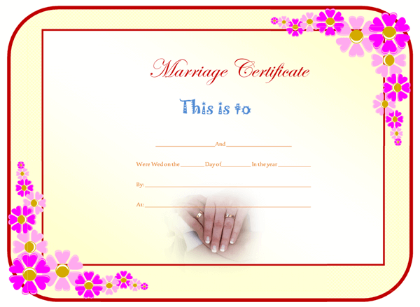 Marriage Certificate Format – Sample Marriage Certificate