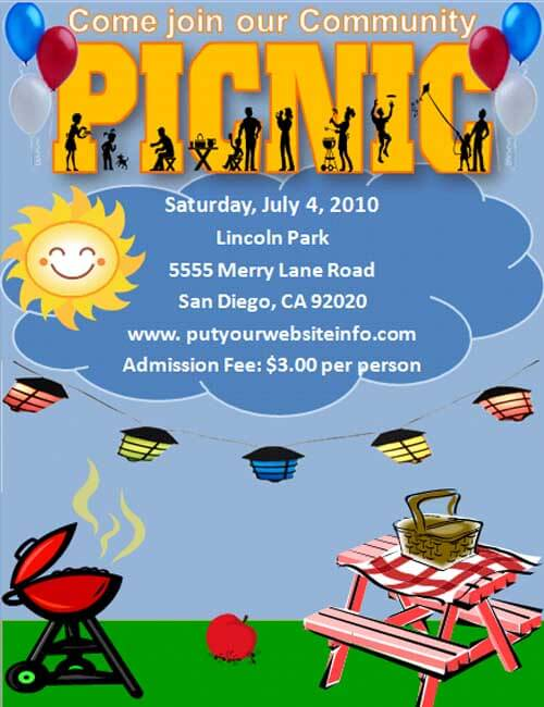Picnic Flyers Template